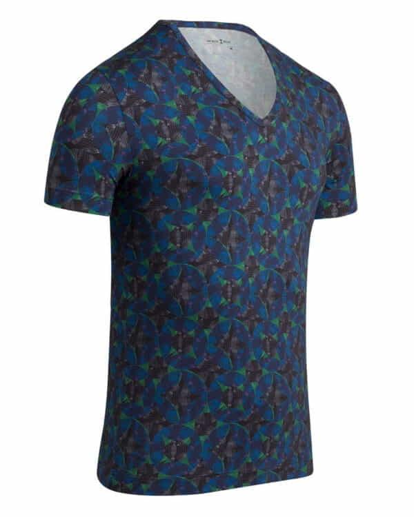 h99 1300h99 f86 2 600x750 - T-shirt Col V à imprimé digital